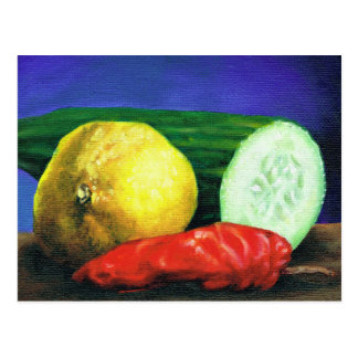 A Lemon and a Cucumber Postcard