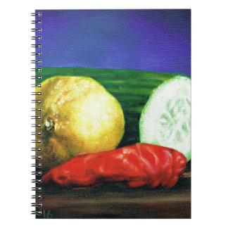 A Lemon and a Cucumber Spiral Notebook