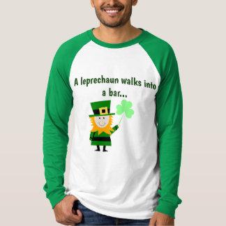 A Leprechaun Walks Into A Bar Men's Shirt