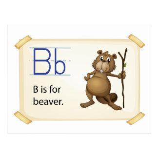 A letter B for beaver Postcard