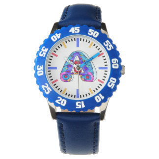 A letter coloruful watch
