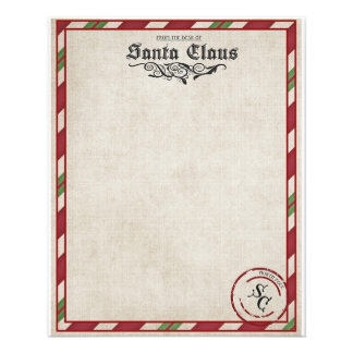 A letter from Santa stationary Flyer