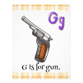A letter G for gun Letterhead Design