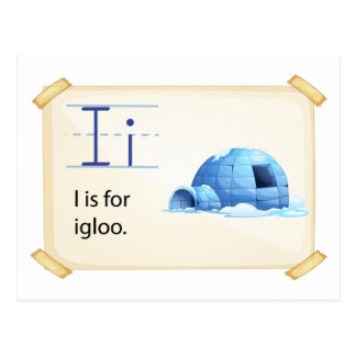 A letter I for igloo Postcard