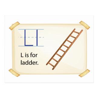 A letter L for ladder Postcard