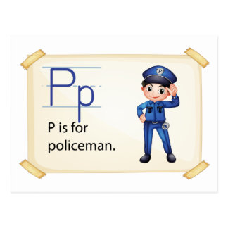 A letter P for policeman Postcard
