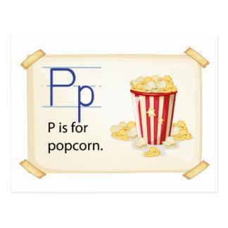 A letter P for popcorn Postcard
