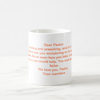 A Letter To the Pastor Classic White Coffee Mug