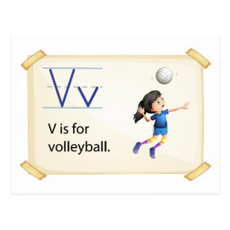 A letter V for volleyball Postcard