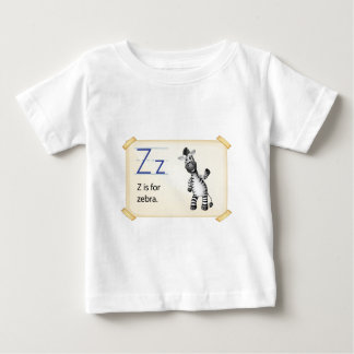 A letter Z for zebra Baby T-Shirt