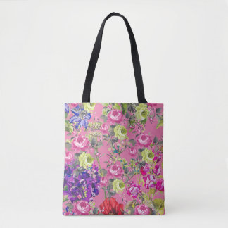 A Liberty Style English Cottage Garden Tote Bag