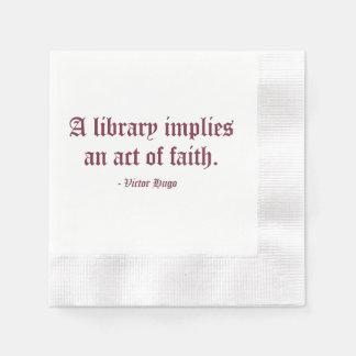 A Library Implies an Act of Faith Napkin