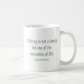 A Library Is Not A Luxury Coffee Mug