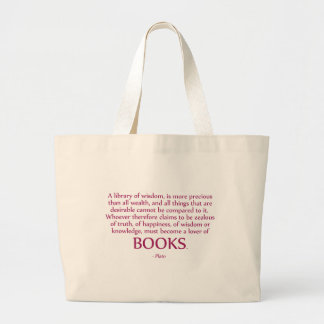 A Library Of Wisdom Is More Precious Large Tote Bag