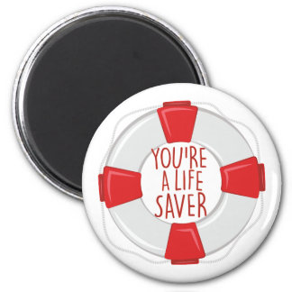 A Life Saver 2 Inch Round Magnet