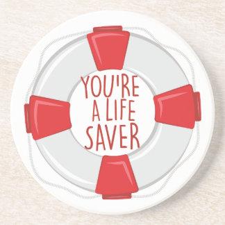 A Life Saver Drink Coasters