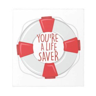 A Life Saver Notepads