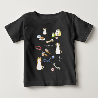 A life with Dogs (for hyperchromic area/for dark) Baby T-Shirt