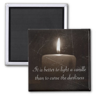 A Light in The Darkness - Candle with Faith Saying Magnet