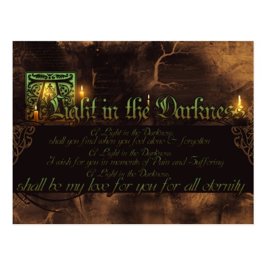 A Light in the Darkness Postcard