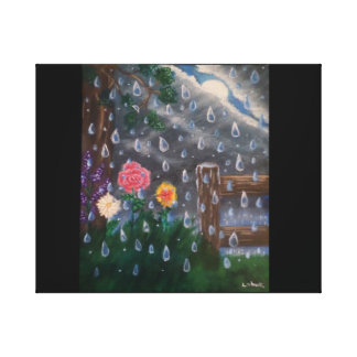 A light rain storm canvas print