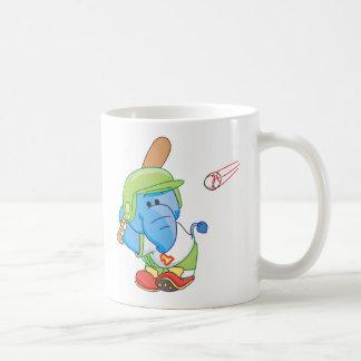 A Lil Blue Elephant Baseball Coffee Mug