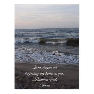 A Limitless God Prayer Postcard