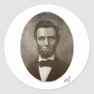 a lincoln 1864 signature oval portrait 2000 sv round sticker