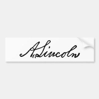 A Lincoln signature Bumper Sticker