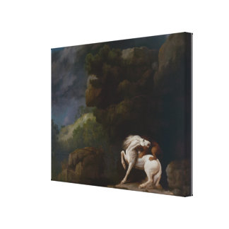 A Lion Attacking a Horse by George Stubbs Canvas Print