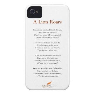 A Lion Roars Poem iPhone 4 Case-Mate Case