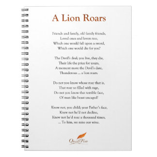 A Lion Roars Poem Notebook