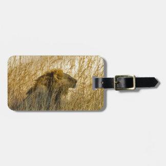 A Lion Waits, Zimbabwe Africa Luggage Tag
