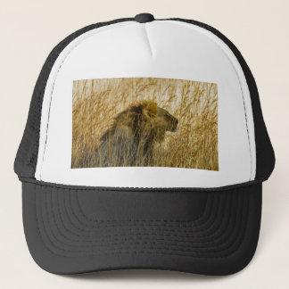 A Lion Waits, Zimbabwe Africa Trucker Hat