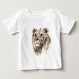 A Lion - Without Pride Drawing Sketch Art Baby T-Shirt