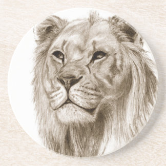 A Lion - Without Pride Drawing Sketch Art Coaster