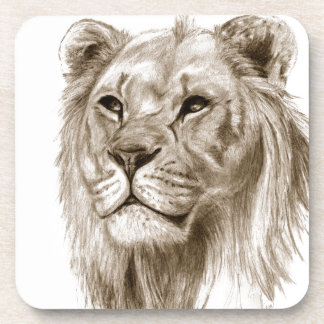 A Lion - Without Pride Drawing Sketch Art Drink Coasters