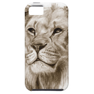 A Lion - Without Pride Drawing Sketch Art iPhone 5 Cases