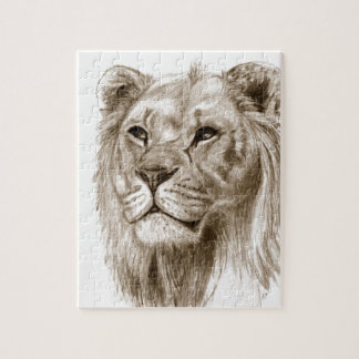 A Lion - Without Pride Drawing Sketch Art Jigsaw Puzzle