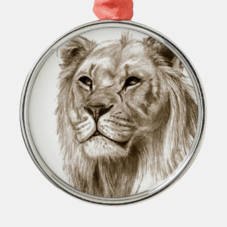 A Lion - Without Pride Drawing Sketch Art Metal Ornament