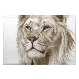 A Lion - Without Pride Drawing Sketch Art Placemat