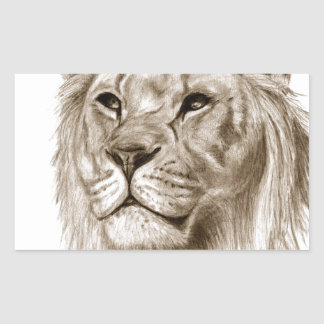 A Lion - Without Pride Drawing Sketch Art Sticker