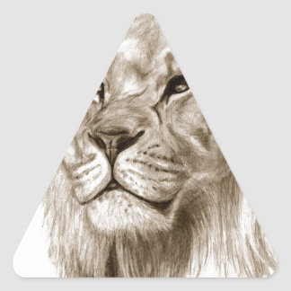 A Lion - Without Pride Drawing Sketch Art Triangle Sticker