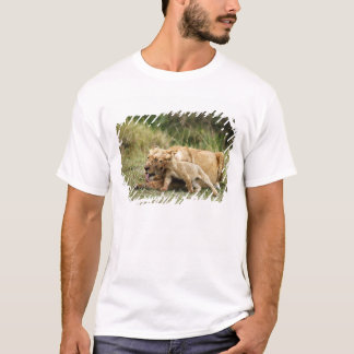 A lioness and her playful cub T-Shirt