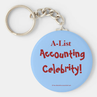 A-List Accounting Celebrity ! Keychain