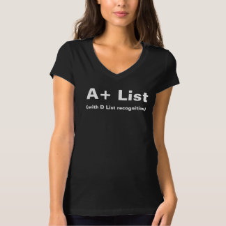 A+ List Ladies Black V-Neck T-Shirt