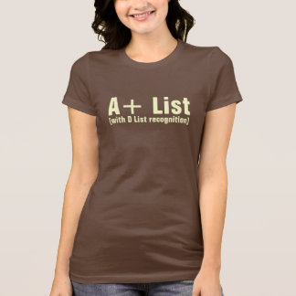 A+ List Ladies Crew Neck T-Shirt