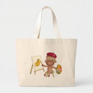 A little artist Socky the Sock Monkey Bag