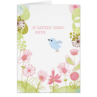 A Little Bird Thank You Card