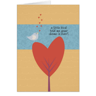 A Little Bird Told Me Your Chemo is Over! Card